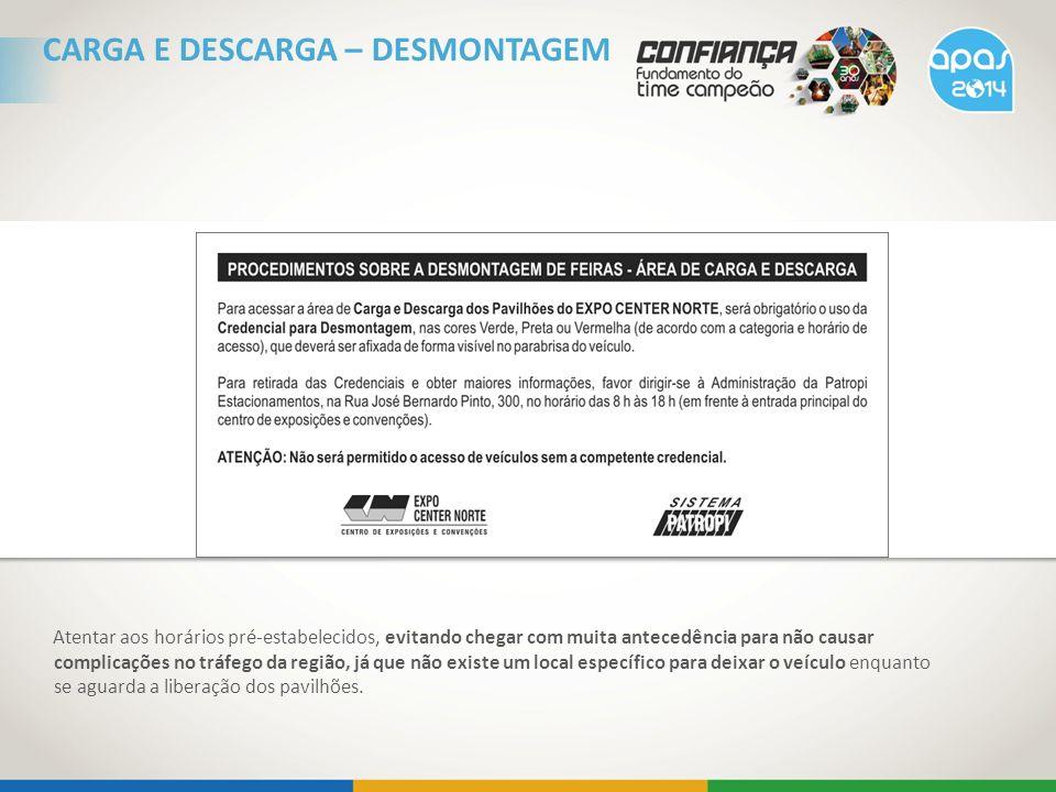 CARGA E DESCARGA – DESMONTAGEM