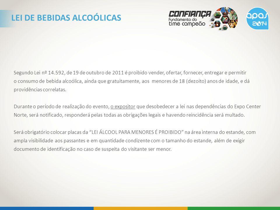 LEI DE BEBIDAS ALCOÓLICAS