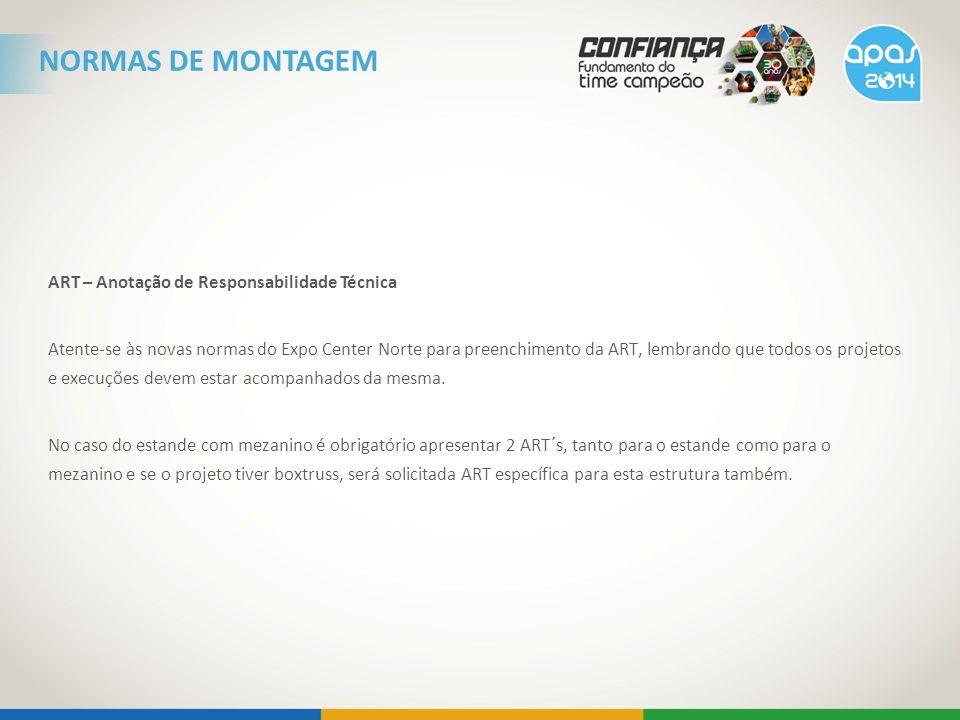 NORMAS DE MONTAGEM ART – Anotação de Responsabilidade Técnica