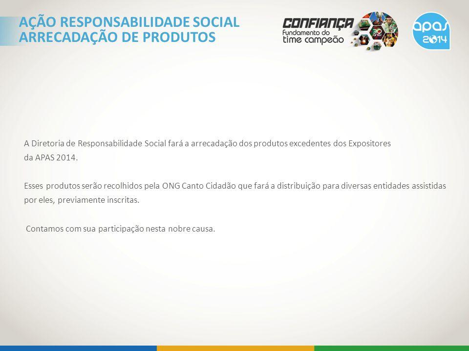 AÇÃO RESPONSABILIDADE SOCIAL ARRECADAÇÃO DE PRODUTOS