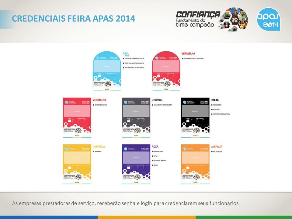 CREDENCIAIS FEIRA APAS 2014