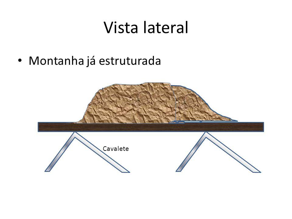 Vista lateral Montanha já estruturada Cavalete