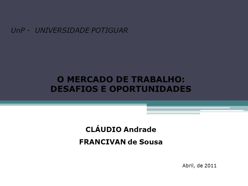 O MERCADO DE TRABALHO: DESAFIOS E OPORTUNIDADES