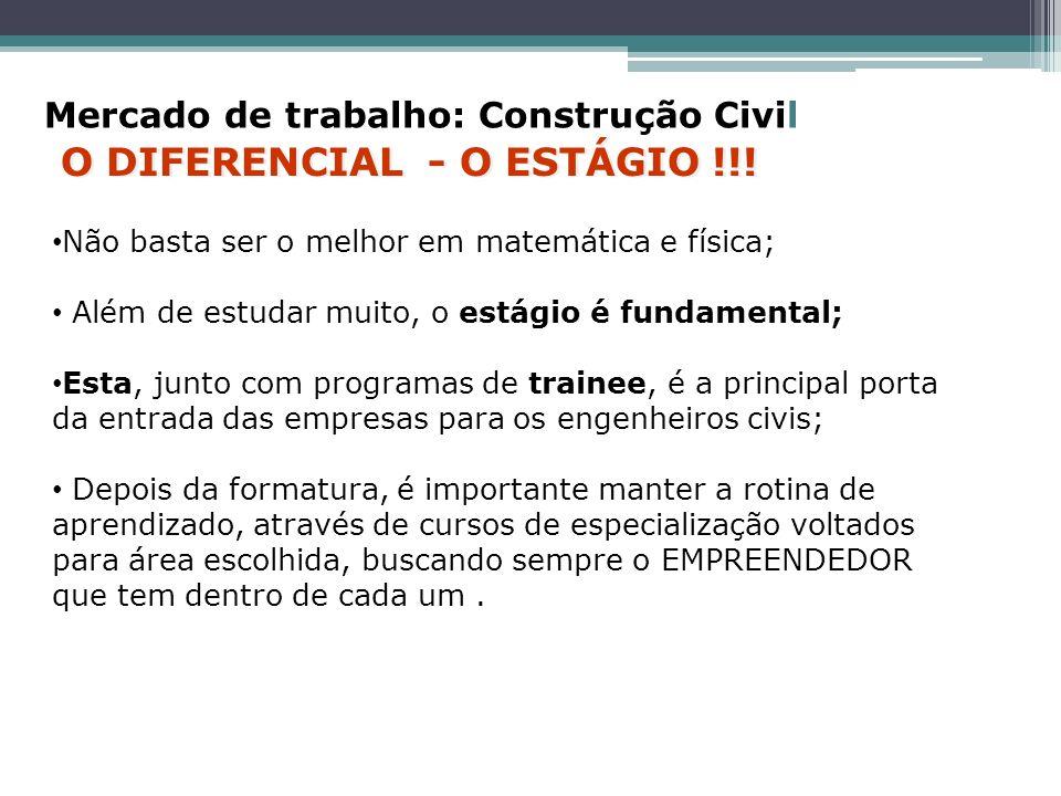 O DIFERENCIAL - O ESTÁGIO !!!