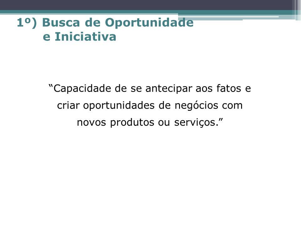 1º) Busca de Oportunidade e Iniciativa