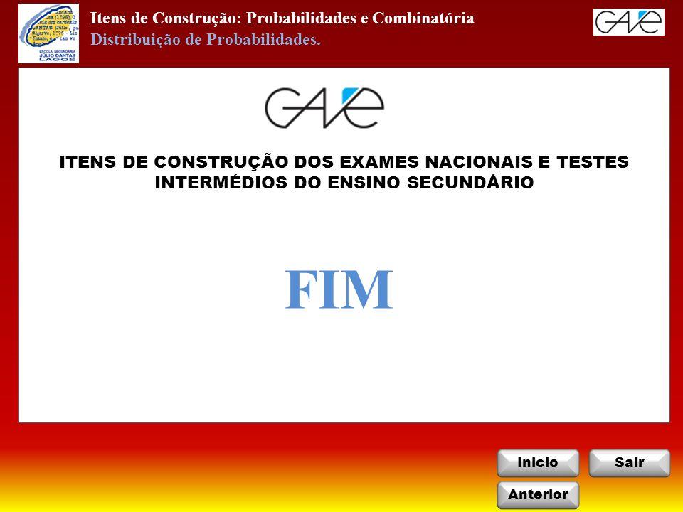 FIM Itens de Construção: Probabilidades e Combinatória