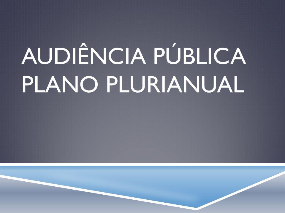 Audiência Pública Plano Plurianual