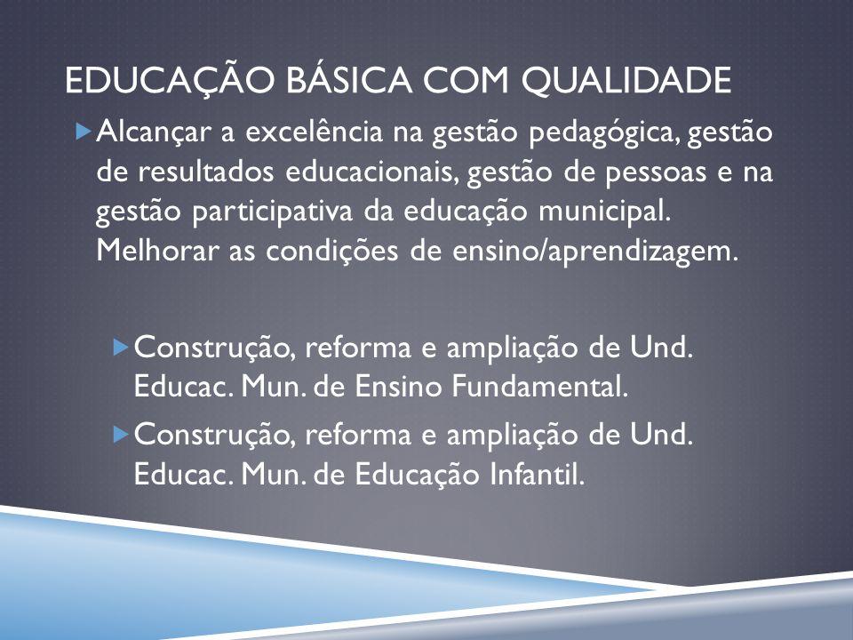 EDUCAÇÃO BÁSICA COM QUALIDADE