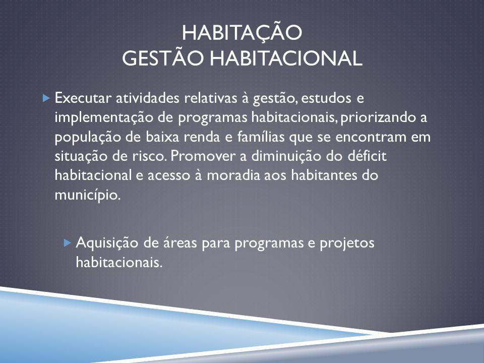 HABITAÇÃO GESTÃO HABITACIONAL