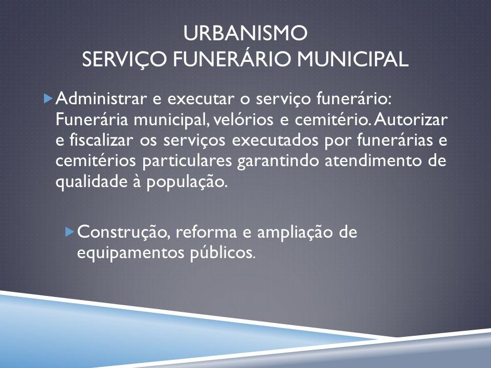 URBANISMO SERVIÇO FUNERÁRIO MUNICIPAL