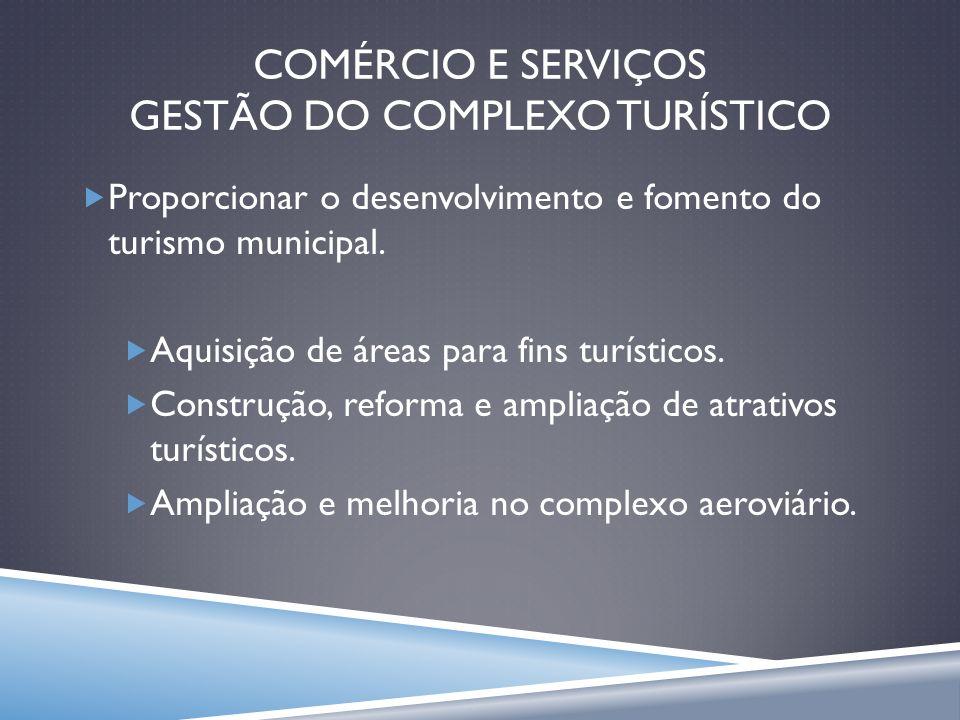 COMÉRCIO E SERVIÇOS GESTÃO DO COMPLEXO TURÍSTICO