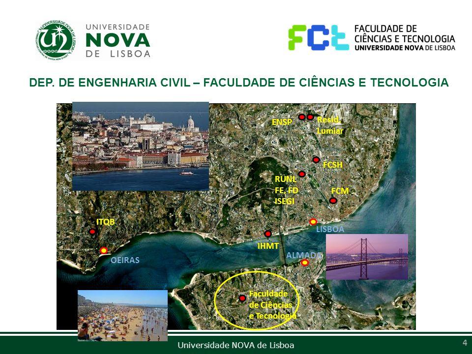 DEP. DE ENGENHARIA CIVIL – FACULDADE DE CIÊNCIAS E TECNOLOGIA
