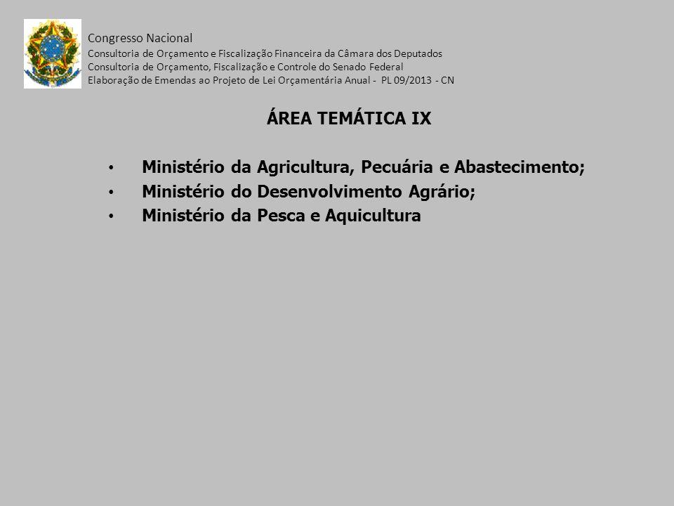 Ministério da Agricultura, Pecuária e Abastecimento;