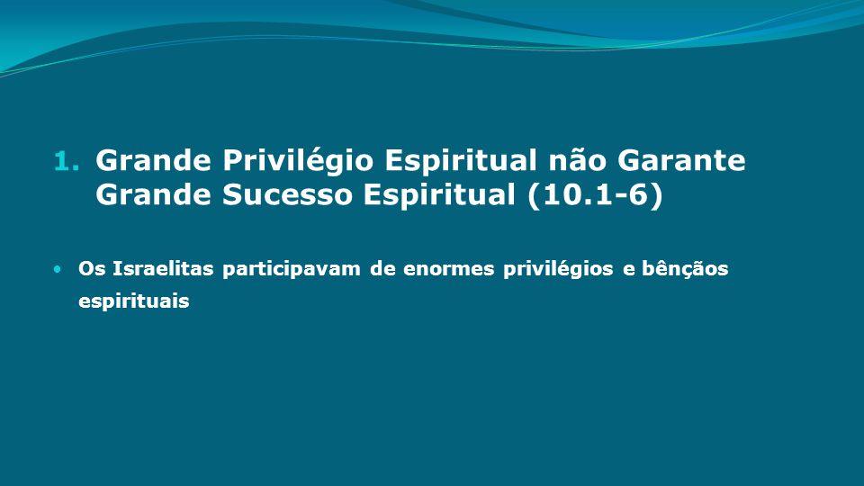 Grande Privilégio Espiritual não Garante Grande Sucesso Espiritual (10