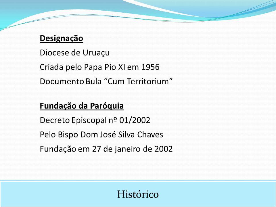 Histórico Designação Diocese de Uruaçu Criada pelo Papa Pio XI em 1956