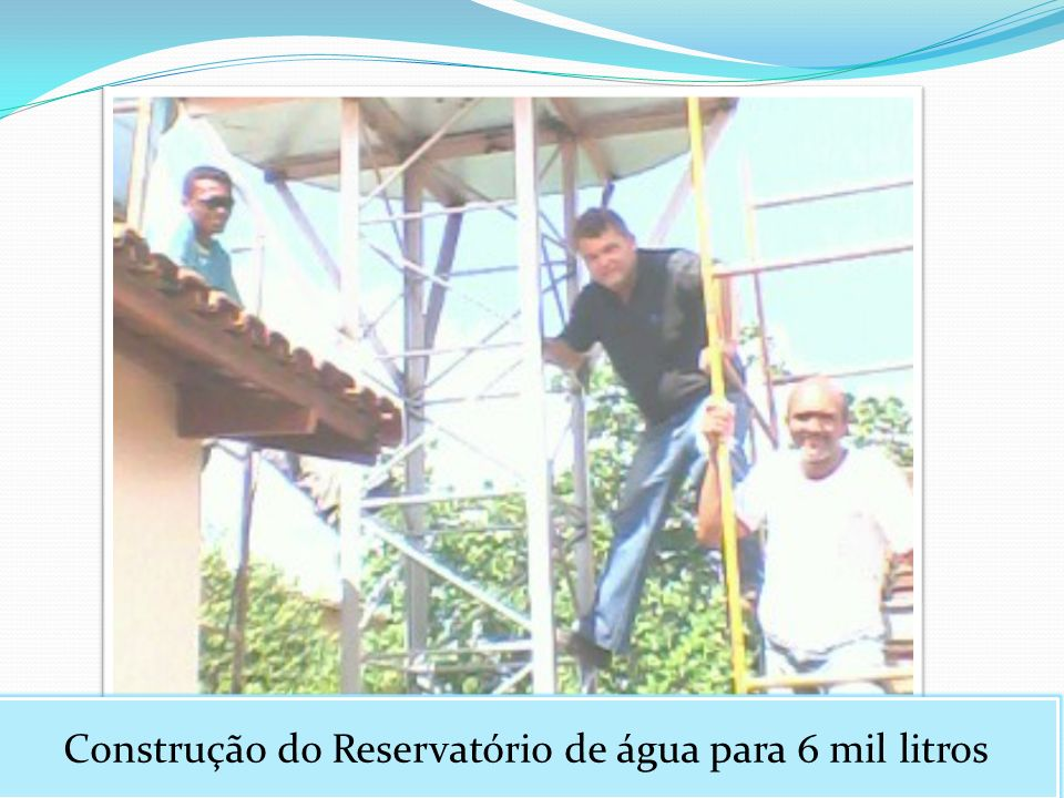 Construção do Reservatório de água para 6 mil litros