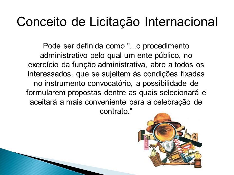 Conceito de Licitação Internacional