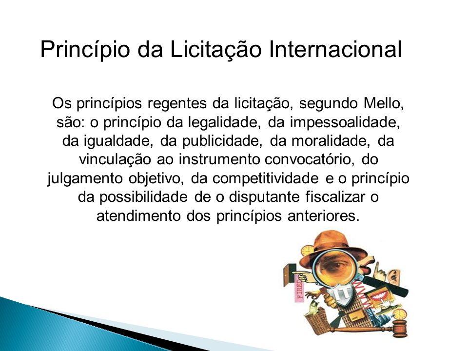 Princípio da Licitação Internacional