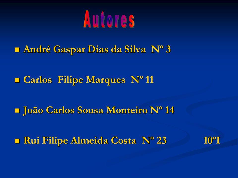 Autores André Gaspar Dias da Silva Nº 3 Carlos Filipe Marques Nº 11