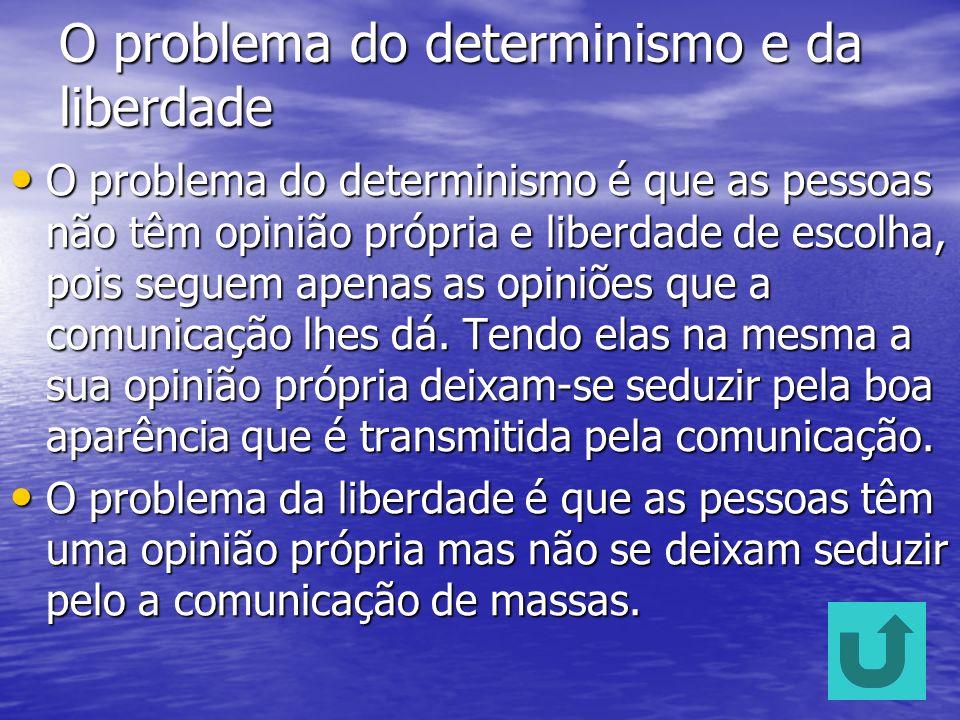 O problema do determinismo e da liberdade