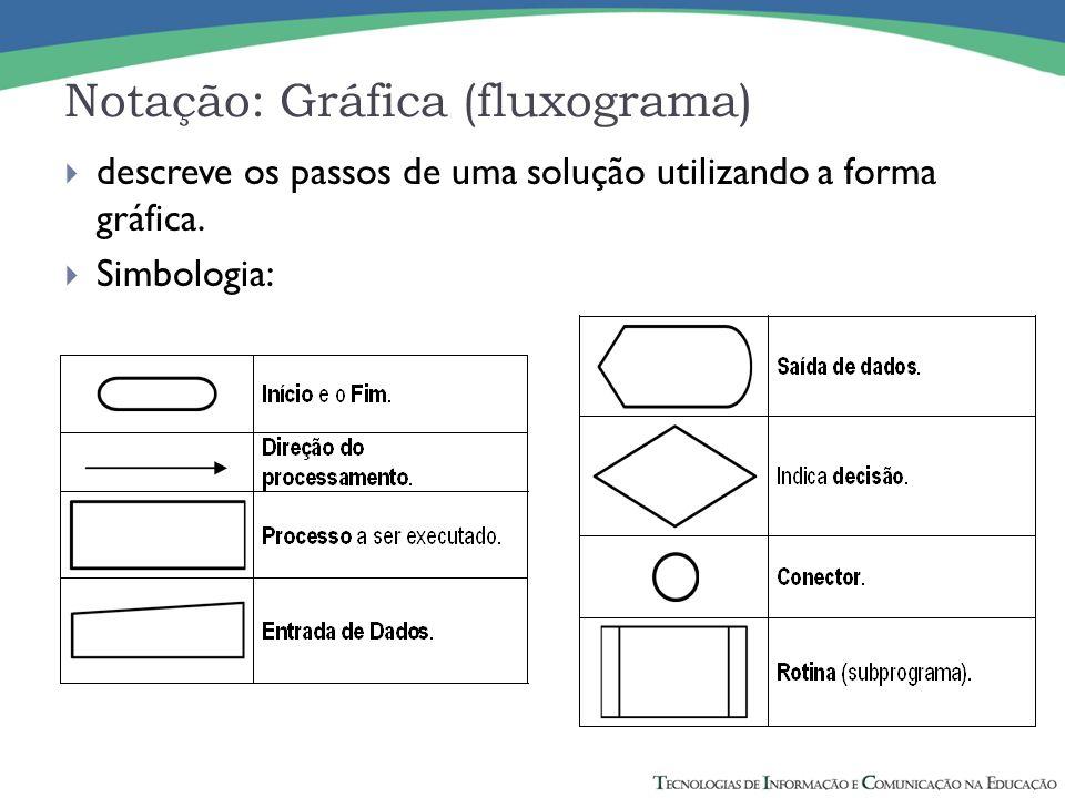 Notação: Gráfica (fluxograma)