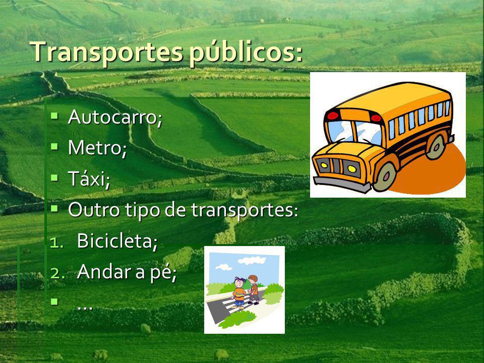 Transportes públicos: