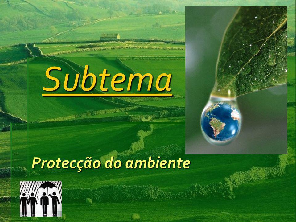Subtema Protecção do ambiente