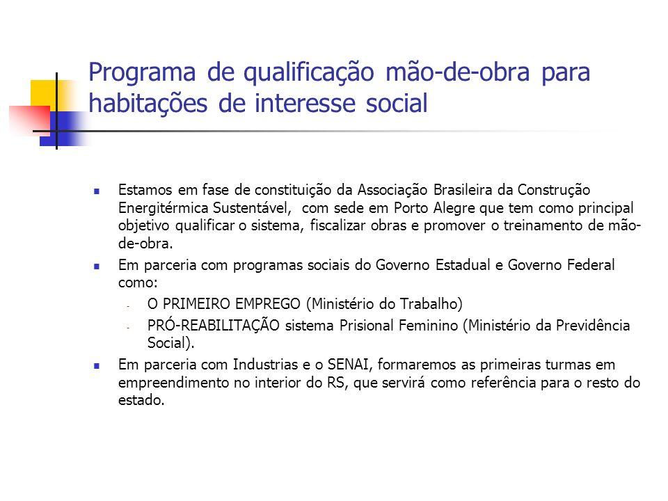 Programa de qualificação mão-de-obra para habitações de interesse social