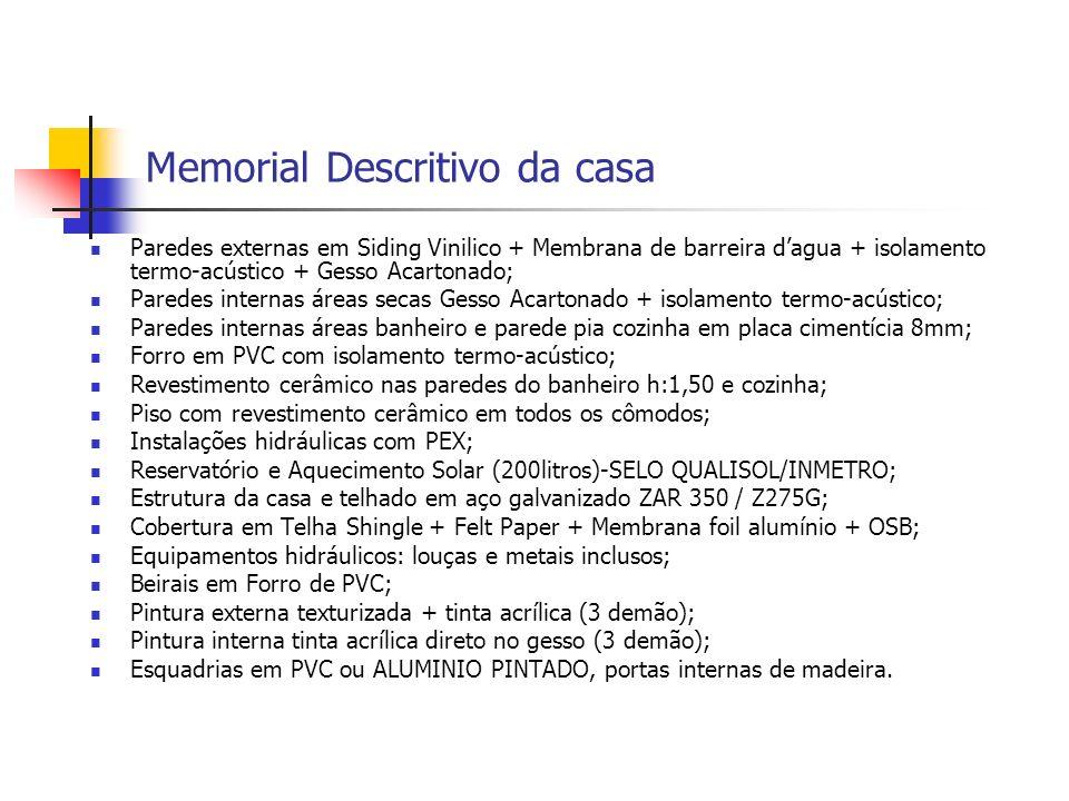 Memorial Descritivo da casa