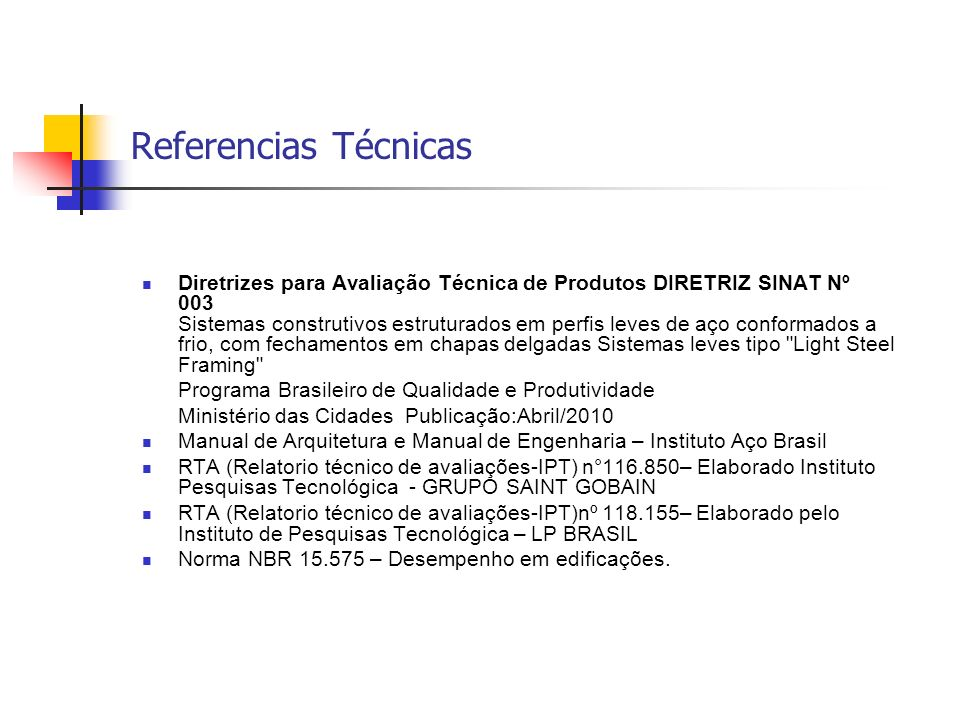 Referencias Técnicas
