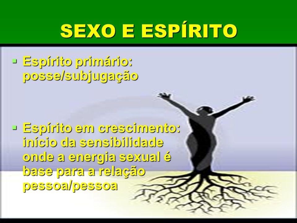 SEXO E ESPÍRITO Espírito primário: posse/subjugação