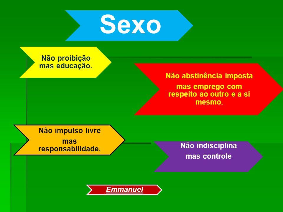 Sexo Não proibição mas educação.