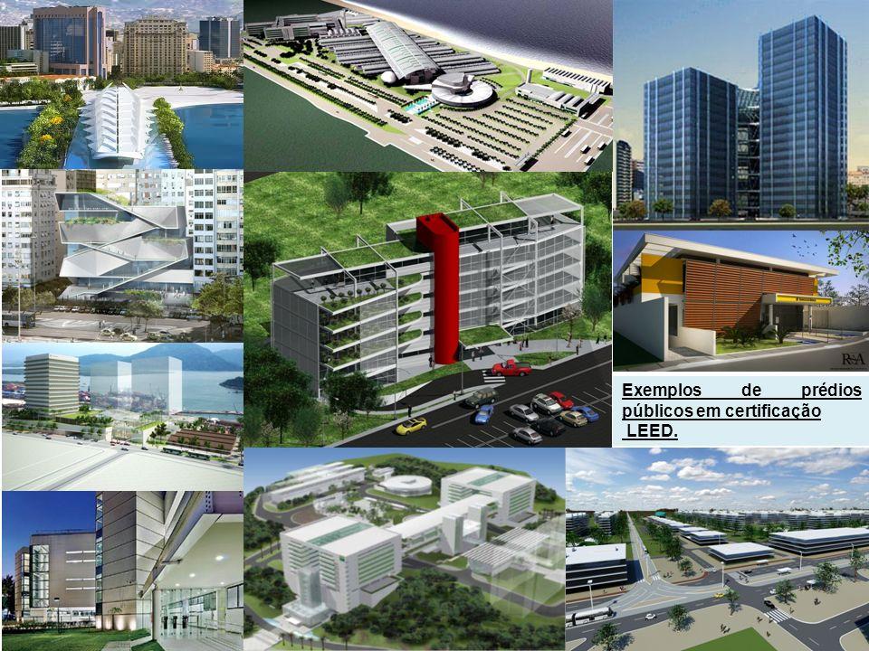 Exemplos de prédios públicos em certificação