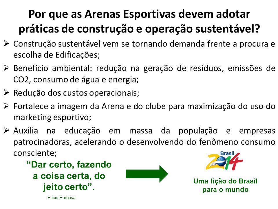 Por que as Arenas Esportivas devem adotar práticas de construção e operação sustentável