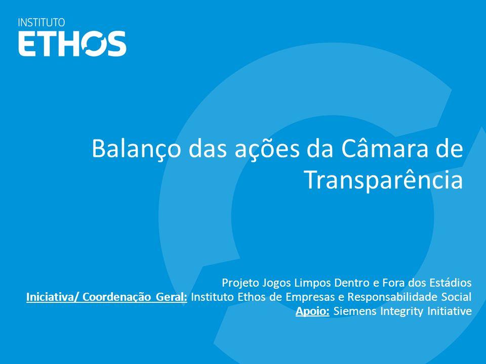 Balanço das ações da Câmara de Transparência