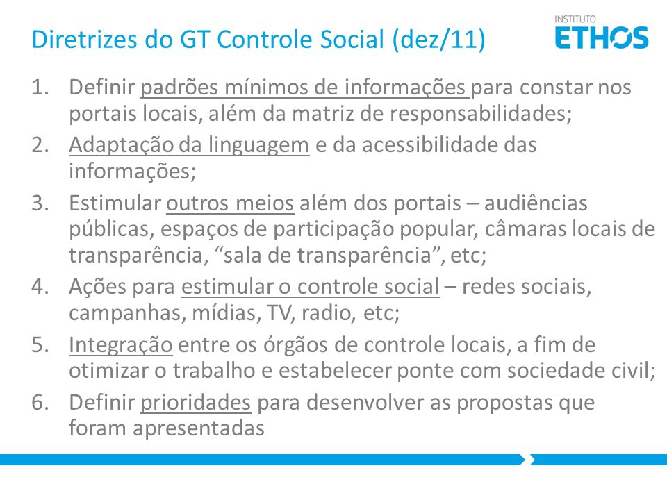 Diretrizes do GT Controle Social (dez/11)