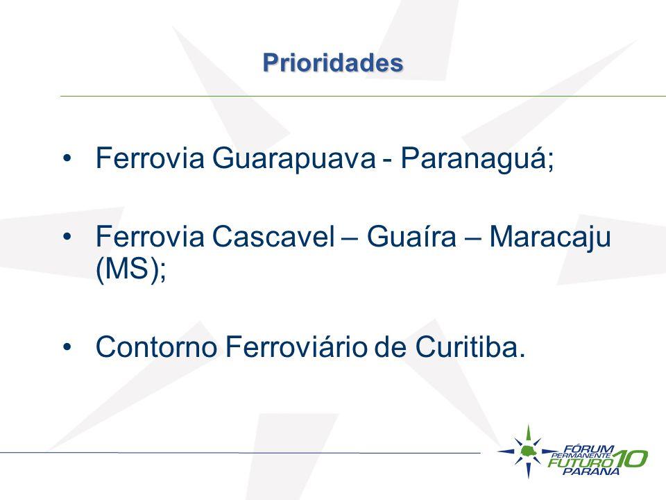 Ferrovia Guarapuava - Paranaguá;