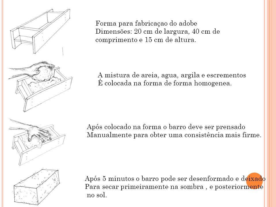 Forma para fabricaçao do adobe