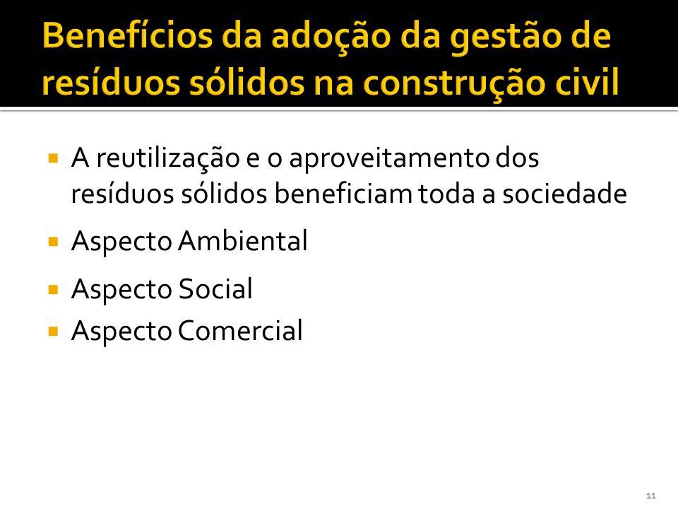Benefícios da adoção da gestão de resíduos sólidos na construção civil