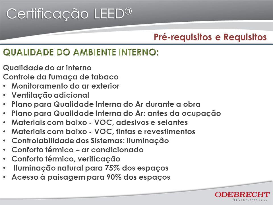 Certificação LEED® Pré-requisitos e Requisitos