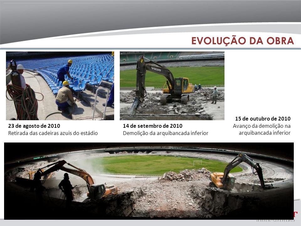 EVOLUÇÃO DA OBRA 15 de outubro de 2010