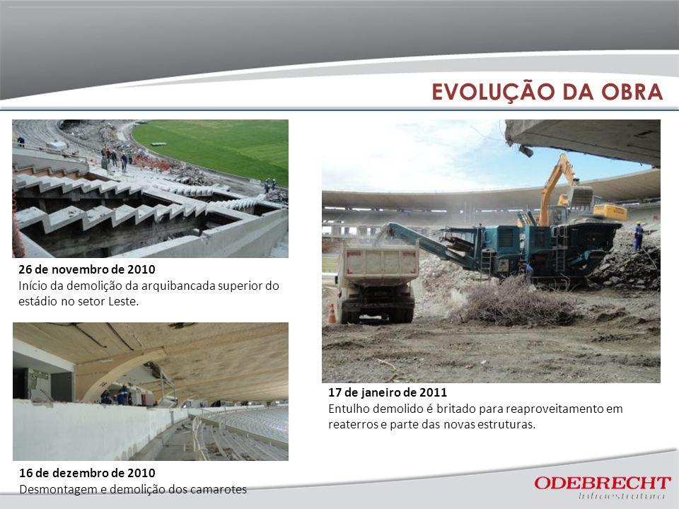 EVOLUÇÃO DA OBRA 26 de novembro de 2010