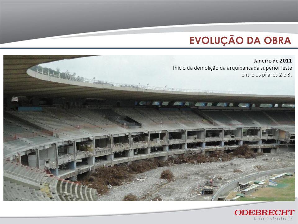 EVOLUÇÃO DA OBRA Janeiro de 2011