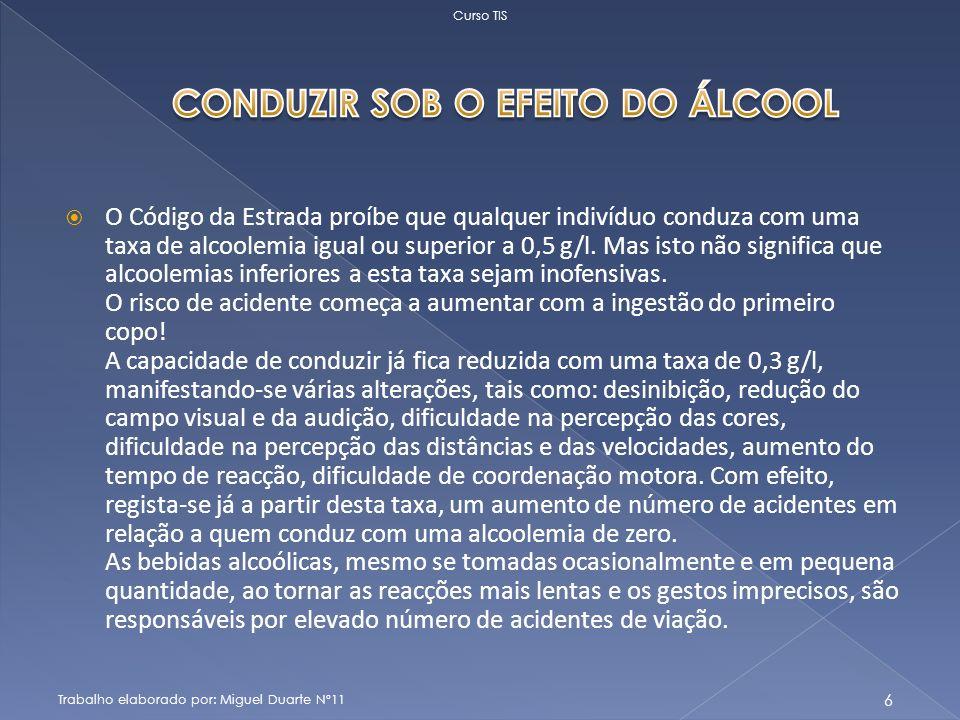 CONDUZIR SOB O EFEITO DO ÁLCOOL
