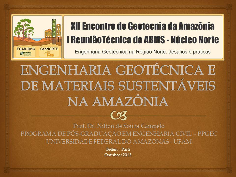 ENGENHARIA GEOTÉCNICA E DE MATERIAIS SUSTENTÁVEIS NA AMAZÔNIA