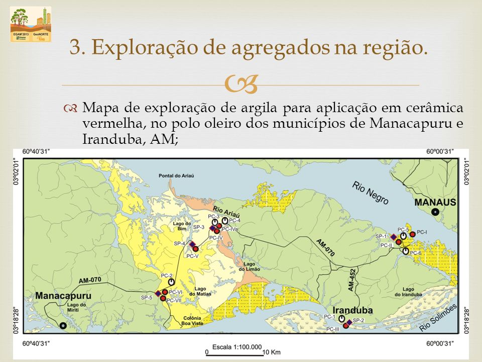 3. Exploração de agregados na região.