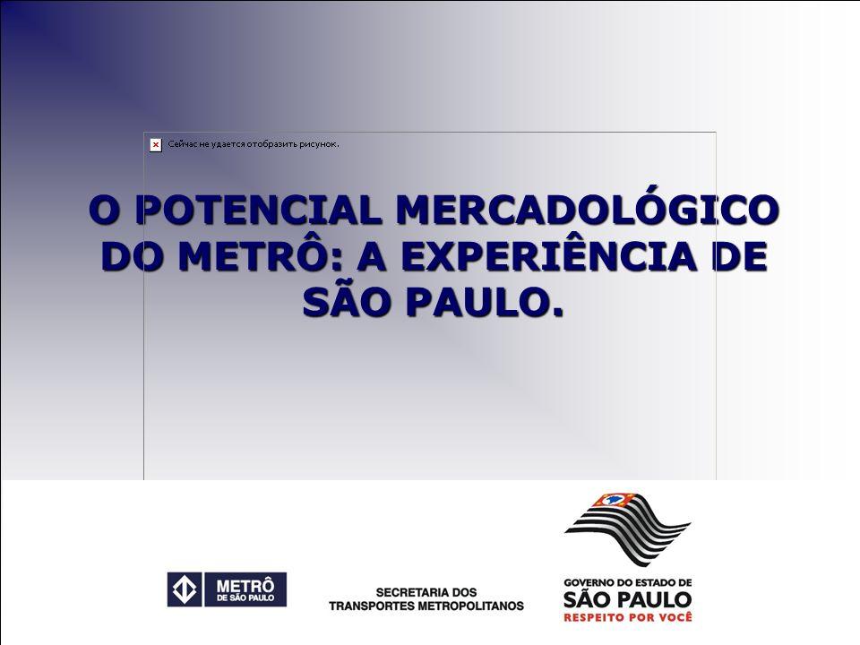 O POTENCIAL MERCADOLÓGICO DO METRÔ: A EXPERIÊNCIA DE SÃO PAULO.