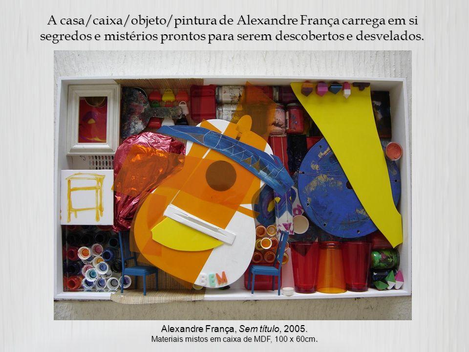 A casa/caixa/objeto/pintura de Alexandre França carrega em si segredos e mistérios prontos para serem descobertos e desvelados.