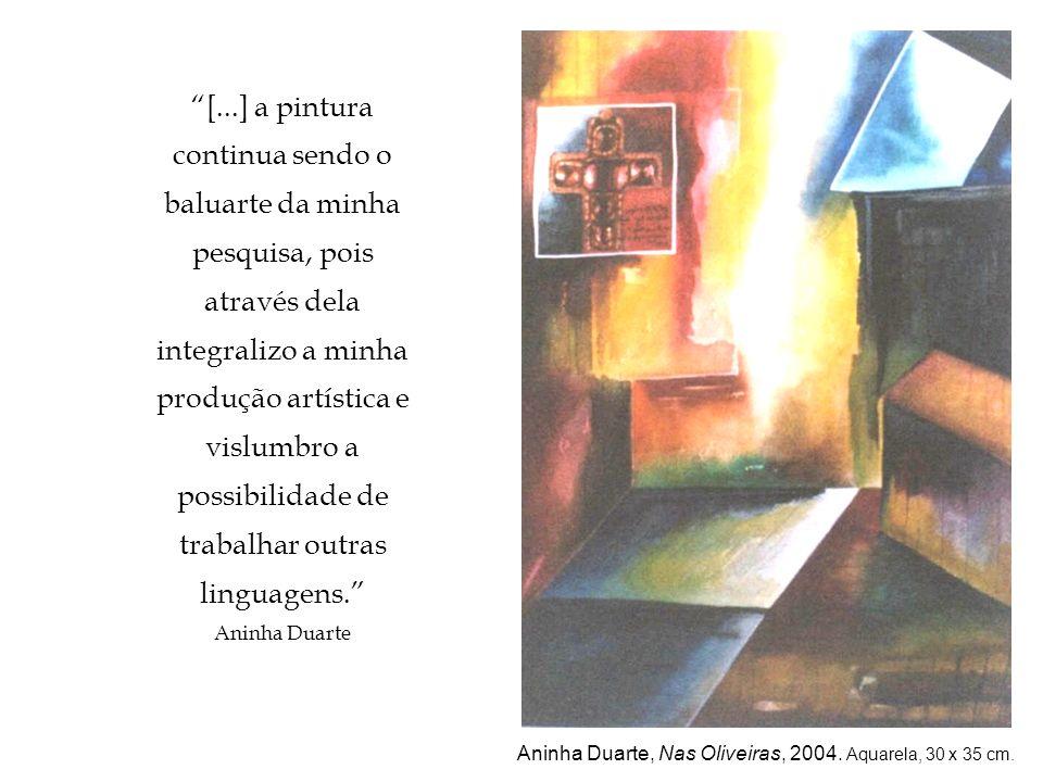 Aninha Duarte, Nas Oliveiras, 2004. Aquarela, 30 x 35 cm.