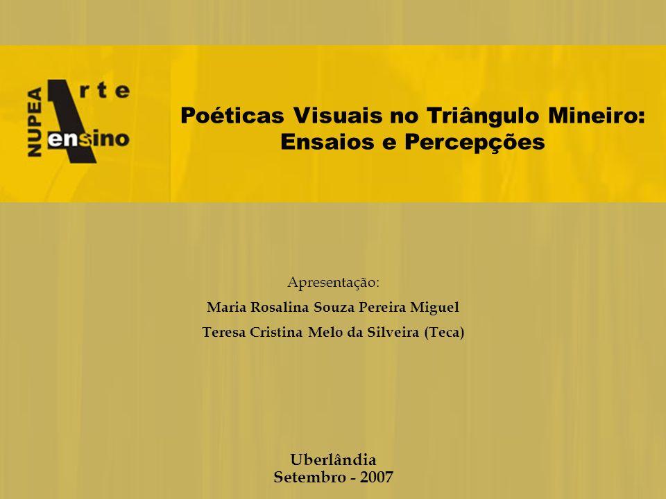 Poéticas Visuais no Triângulo Mineiro: Ensaios e Percepções